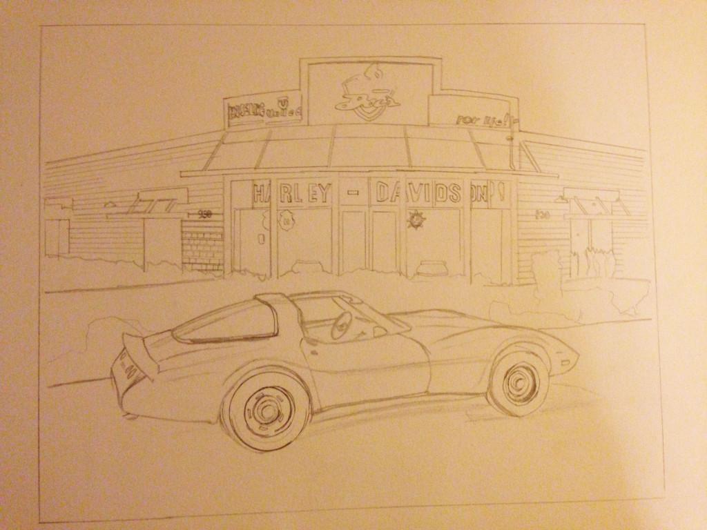 Corvette Drawing