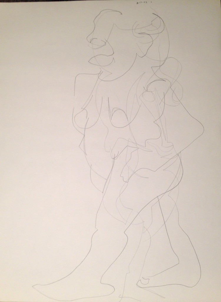 Abstract Nude Female Standing