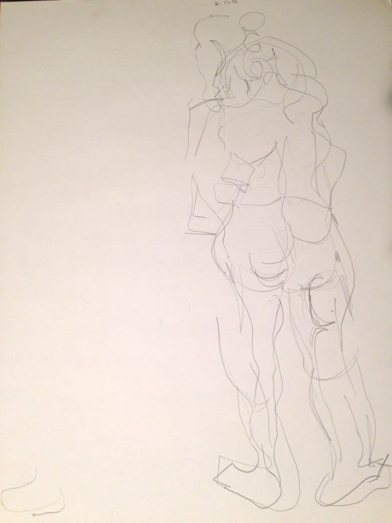 Abstract Nude Standing