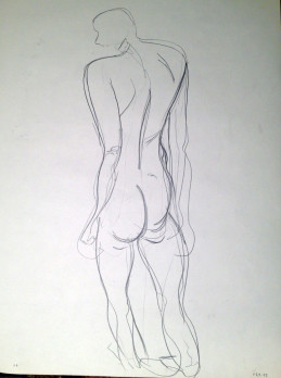 Abstract Nude Male Standing
