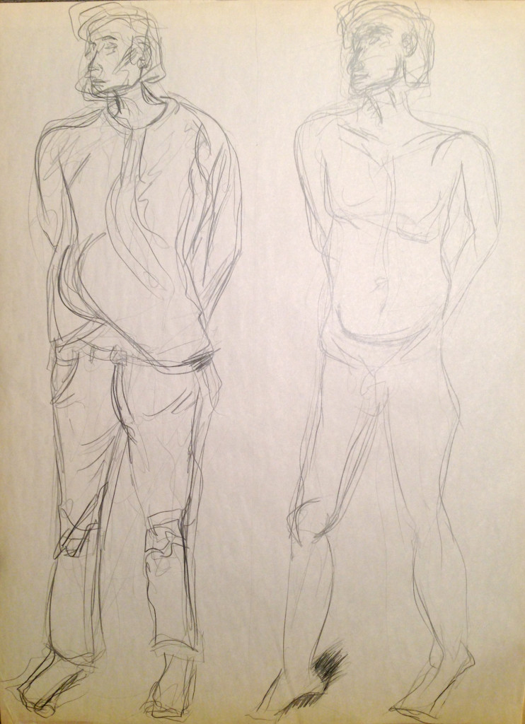 Male Nude and Clothed