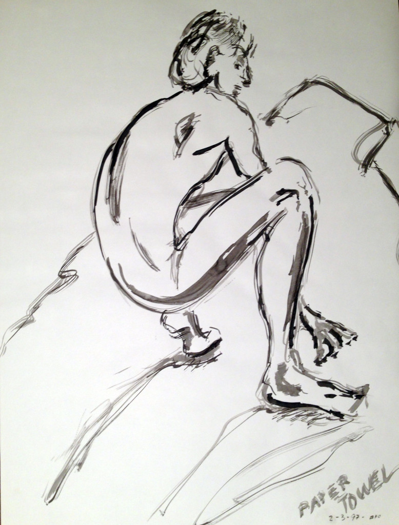 Male Nude Crouched