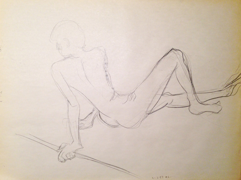 Male Nude Reclined