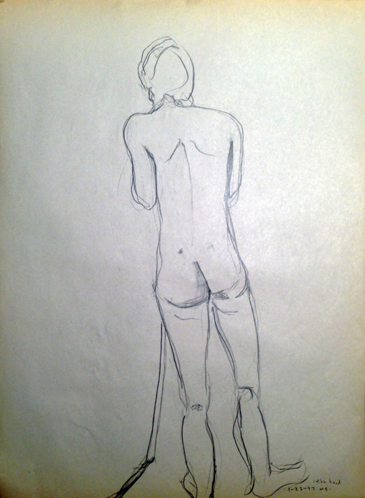 Male Nude with Pole
