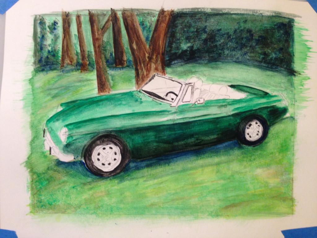 MGB Painting