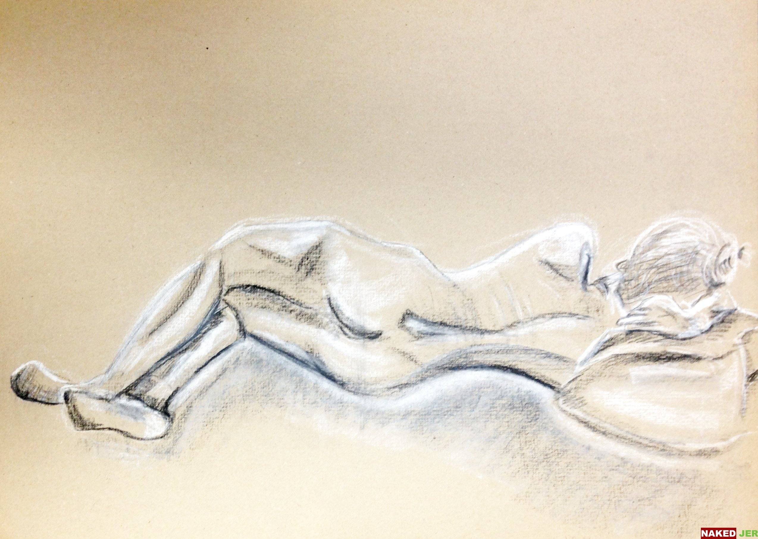 Nude Female Laying Down