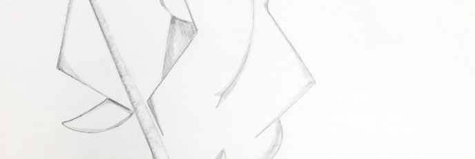 Abstract Nude Female Sitting