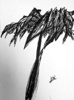 India Ink Tree