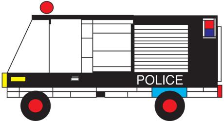 Lego Police Truck