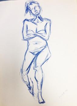 Nude Female Arms Crossed
