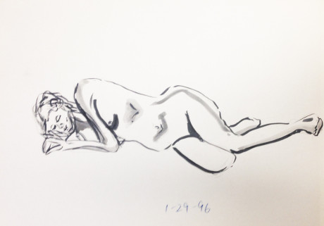 Nude Female Lying Down