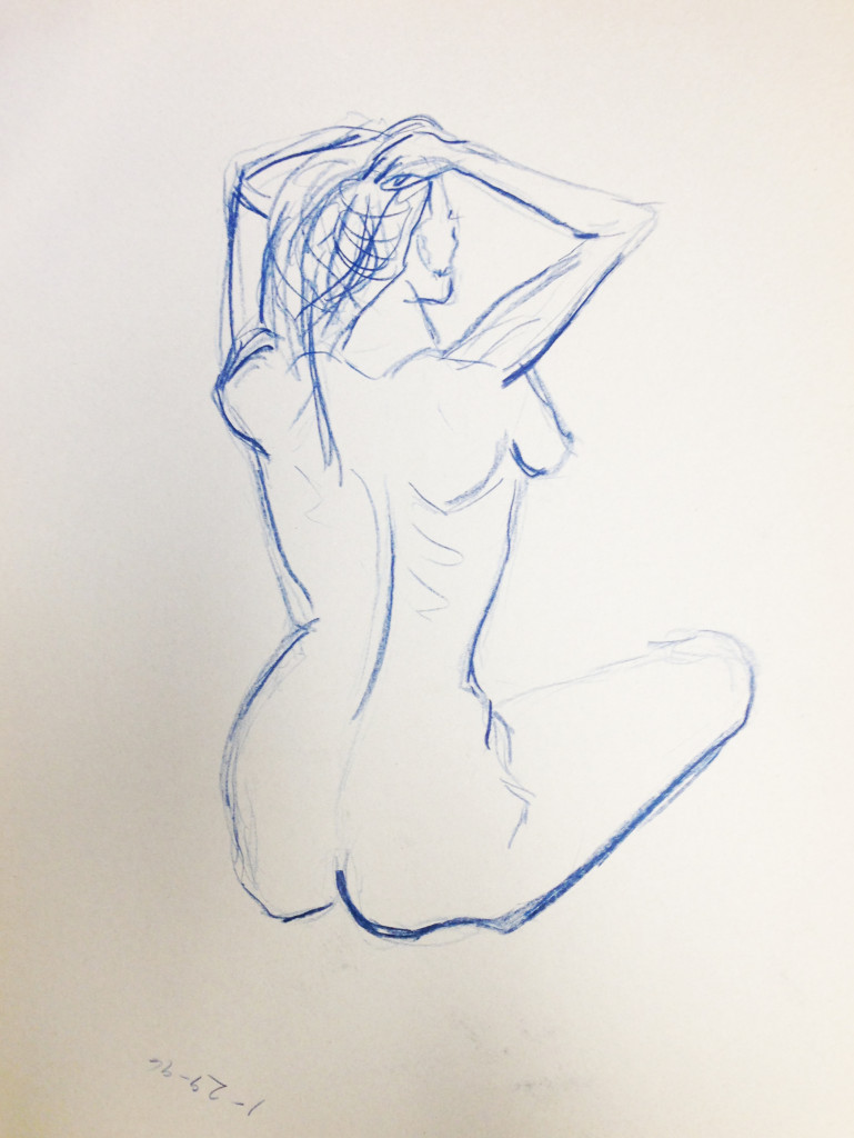 Nude Female Seated