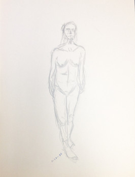 Nude Male Standing