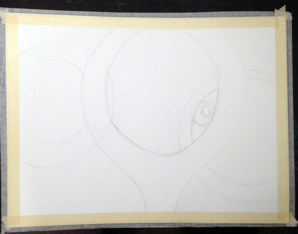 Untitled in progress Drawing