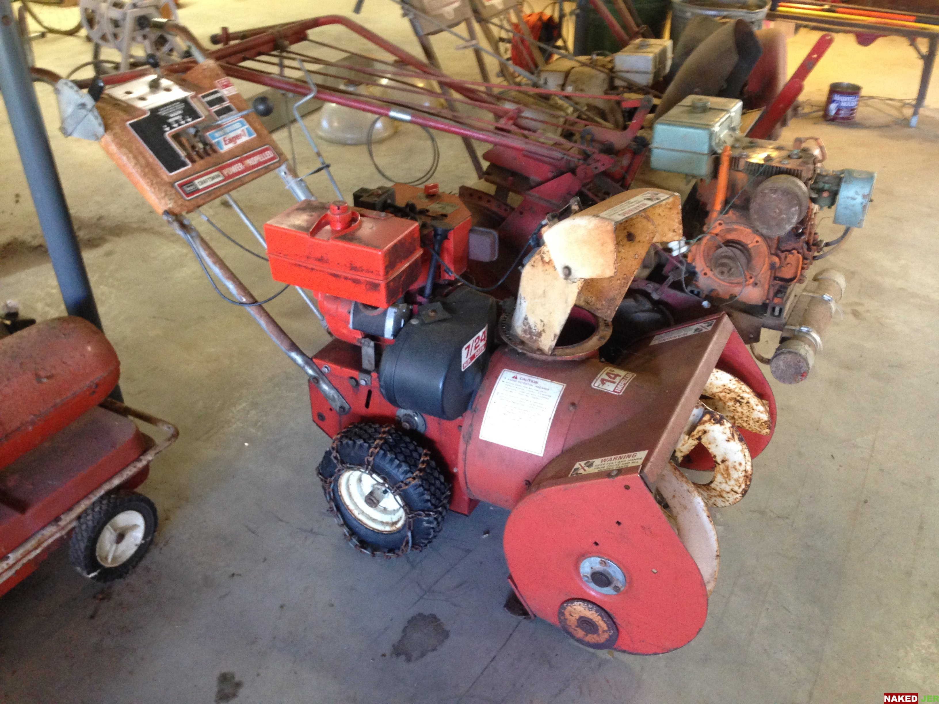 Craftsman Eagle 1 Snow Blower Elec Start, New Carb $200