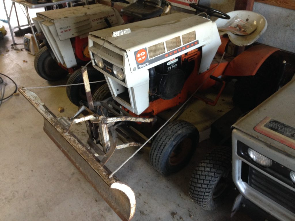 Vintage Sears Suburban Tractor w/Plow $250