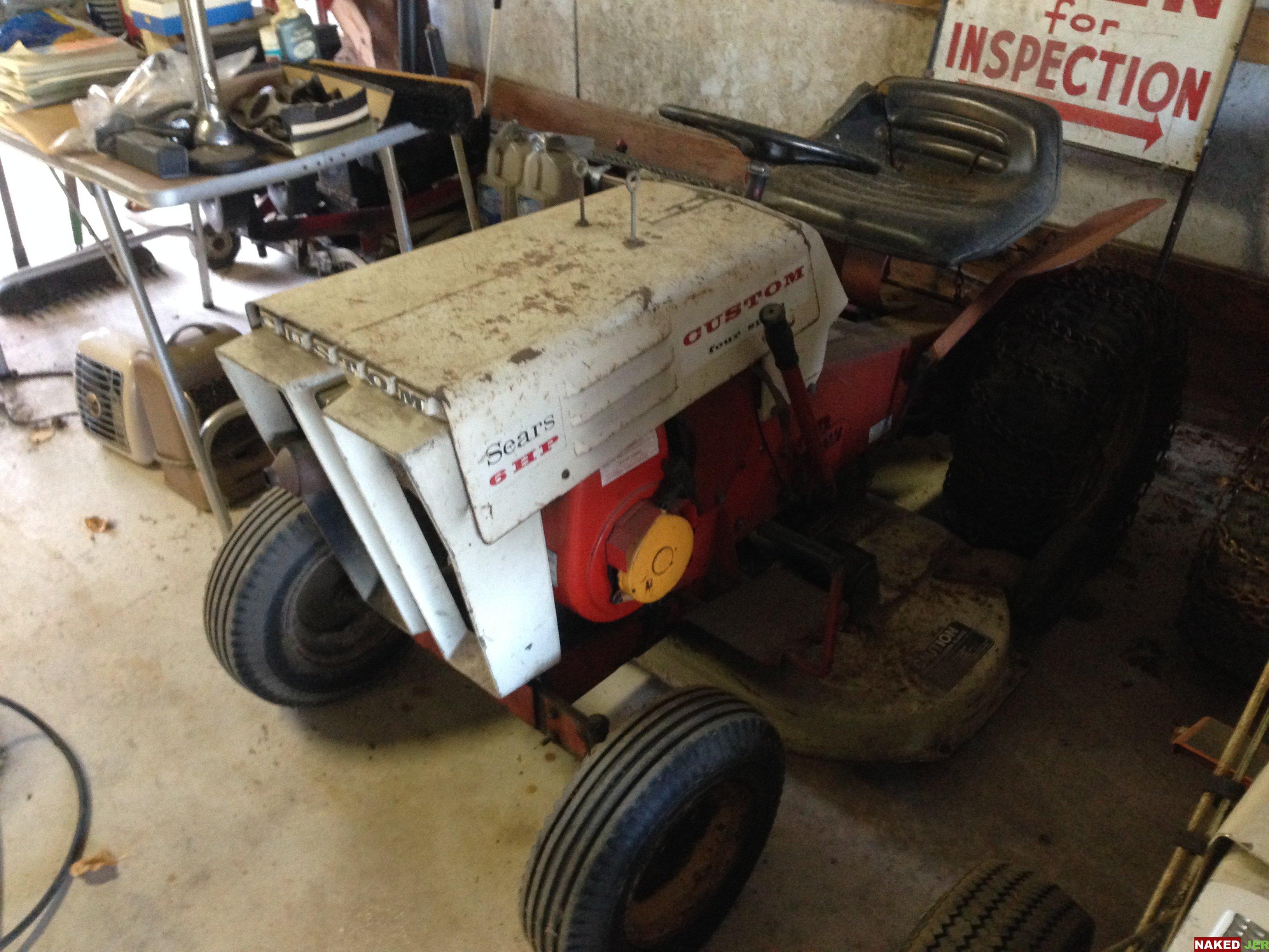 Vintage Sears Custom 6HP Tractor $200