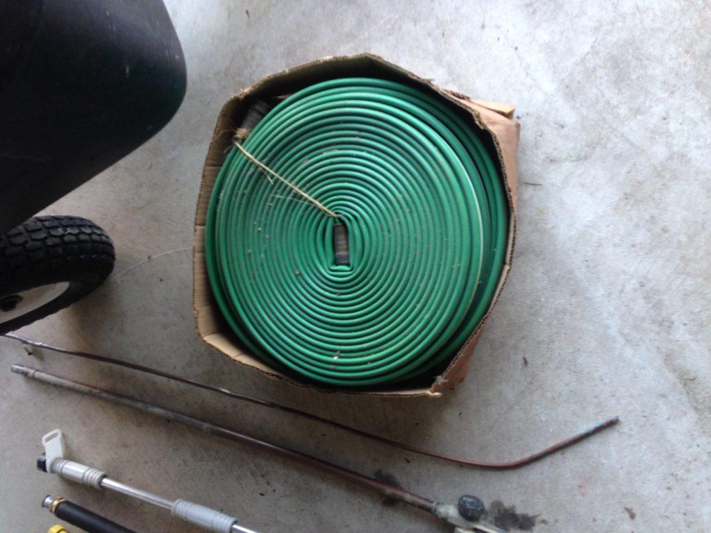 Reels of weep hose $10
