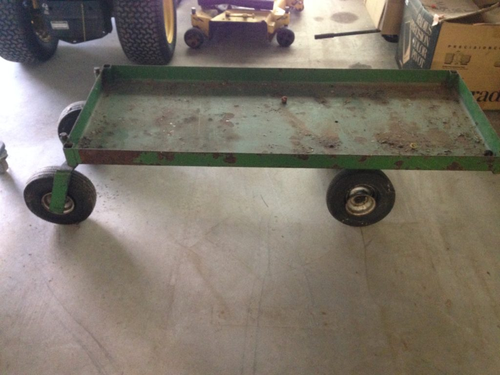 Large steel cart (tires need air) $40