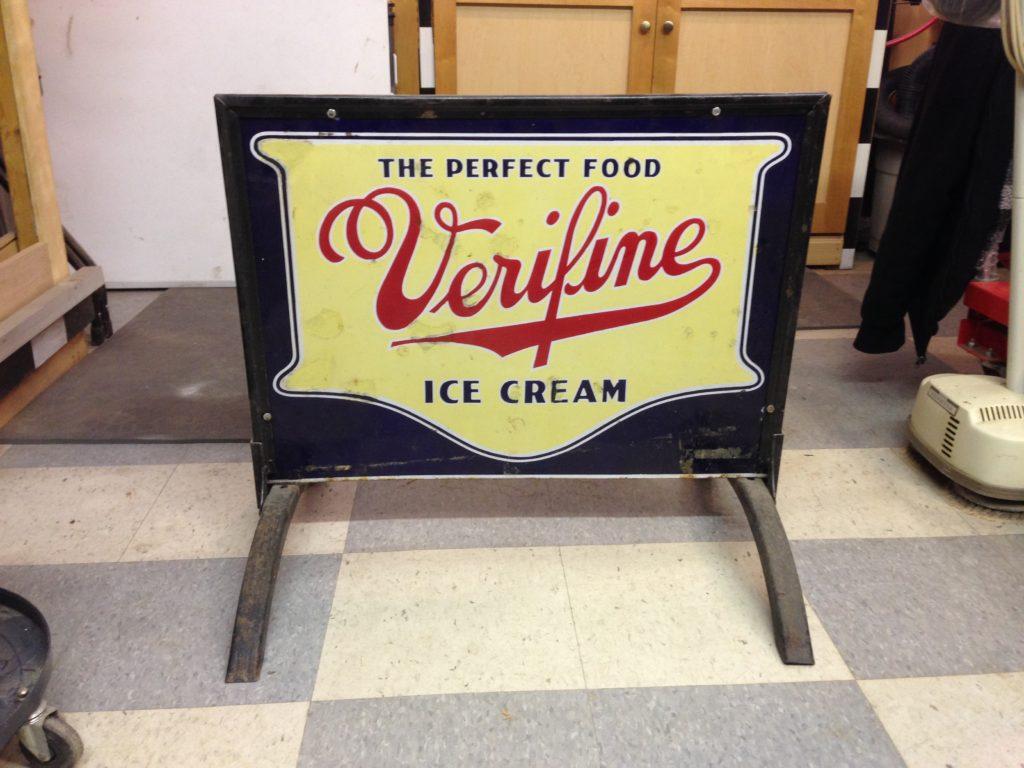 Veryfine Ice Cream Display Stand Sign $500