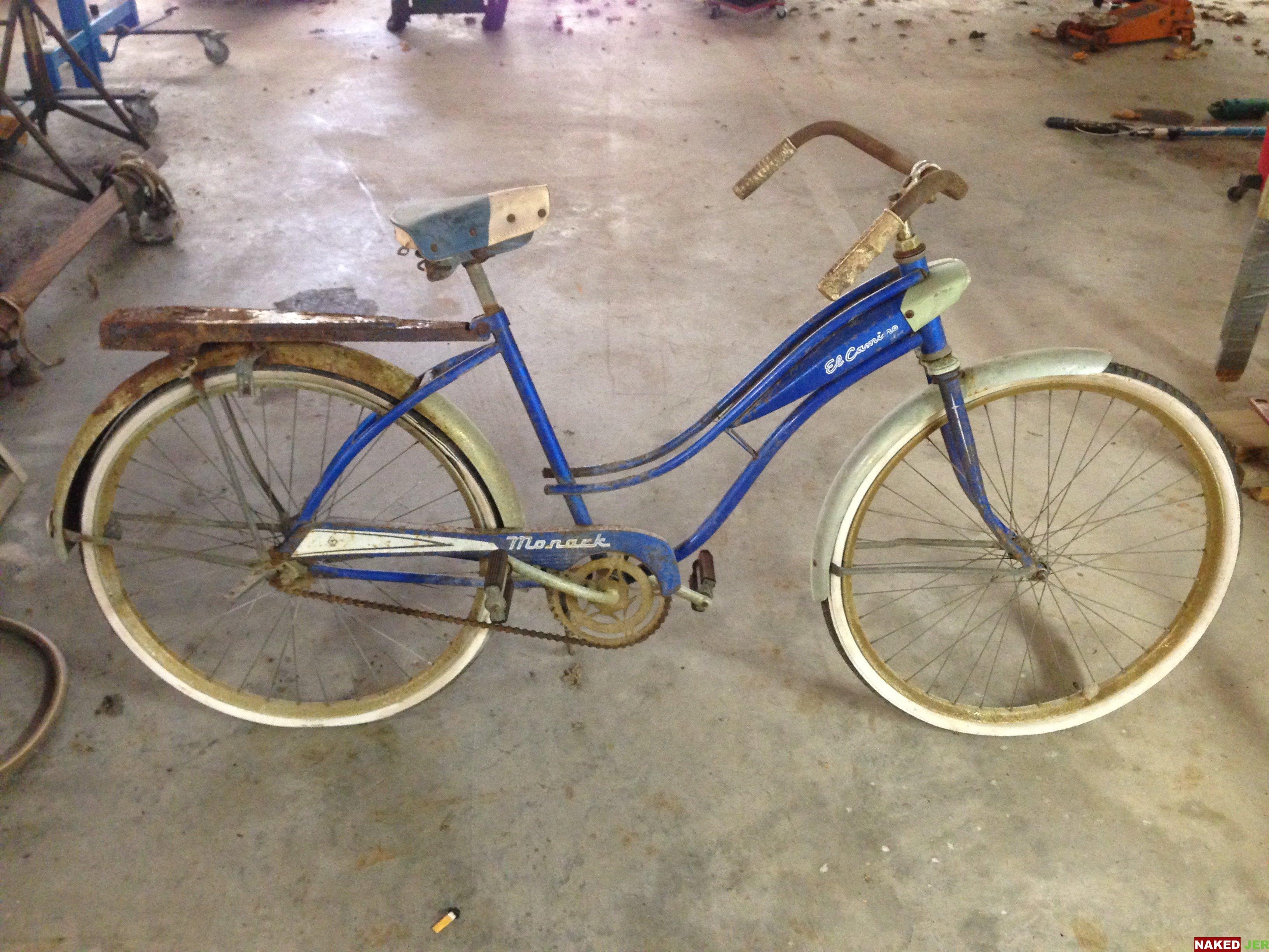 1962 Blue Monarch El Camino Girls Beach Cruiser $70