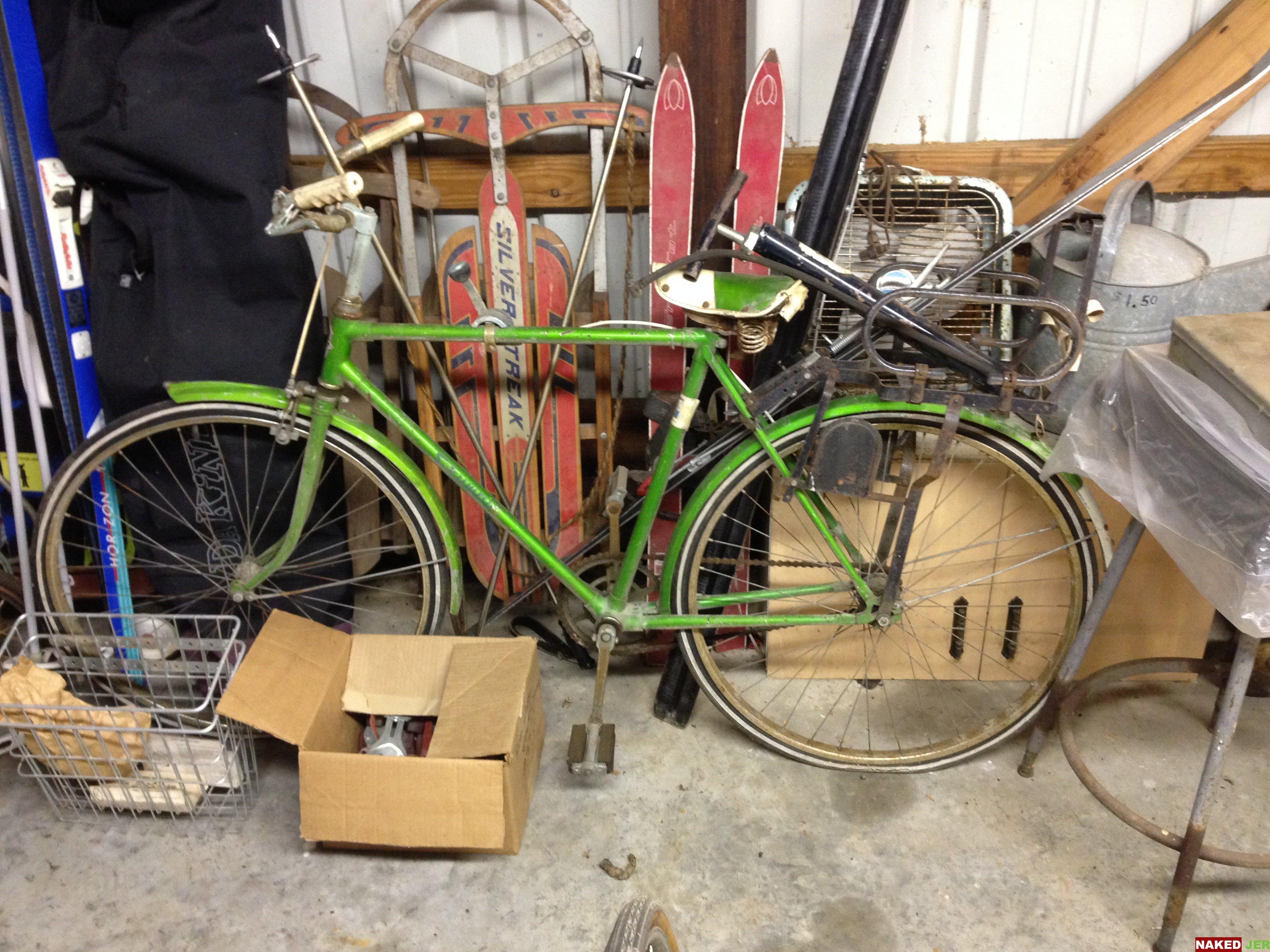 """1968 Skyway 3 speed 20"""" boys bike green from Japan!  $75"""