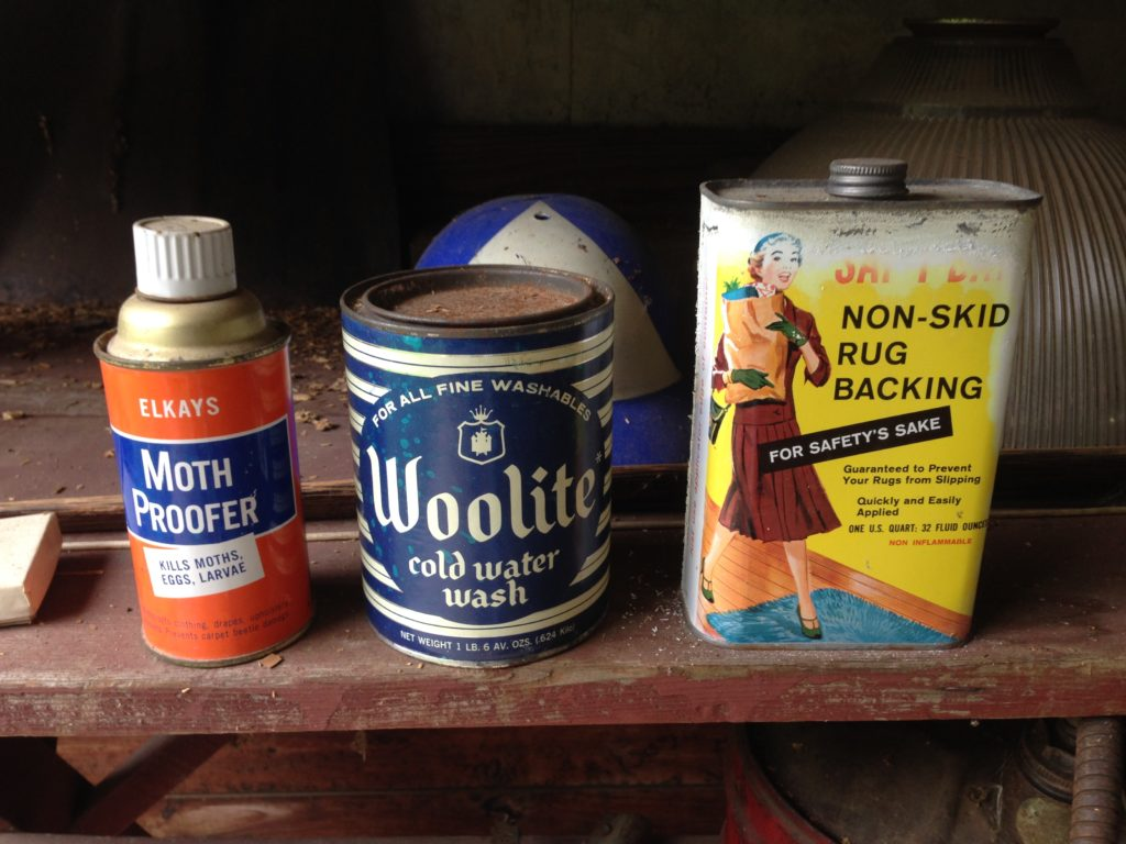 Assorted vintage cans priced to sell