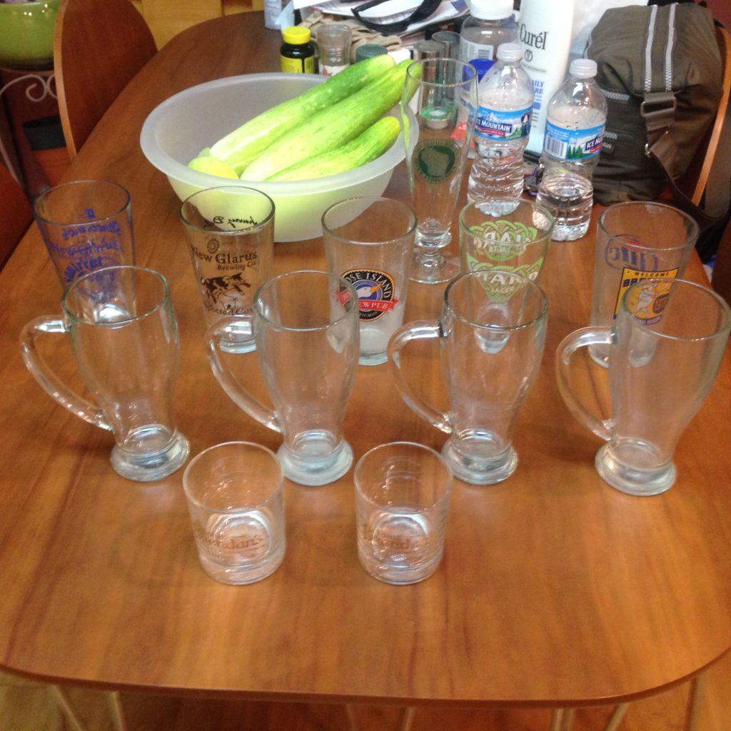 Assorted Glassware $10