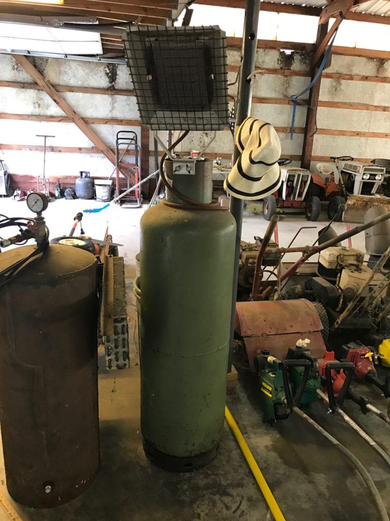 Propane tank/heater $60