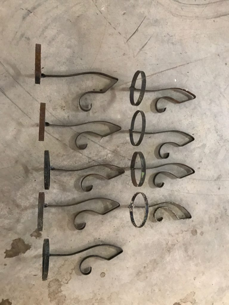 Decorative Steel Pot/candle holders $2ea