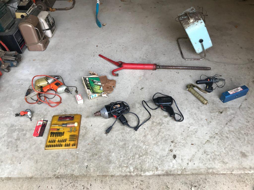 MISC.  Drills, pump, tools, etc.