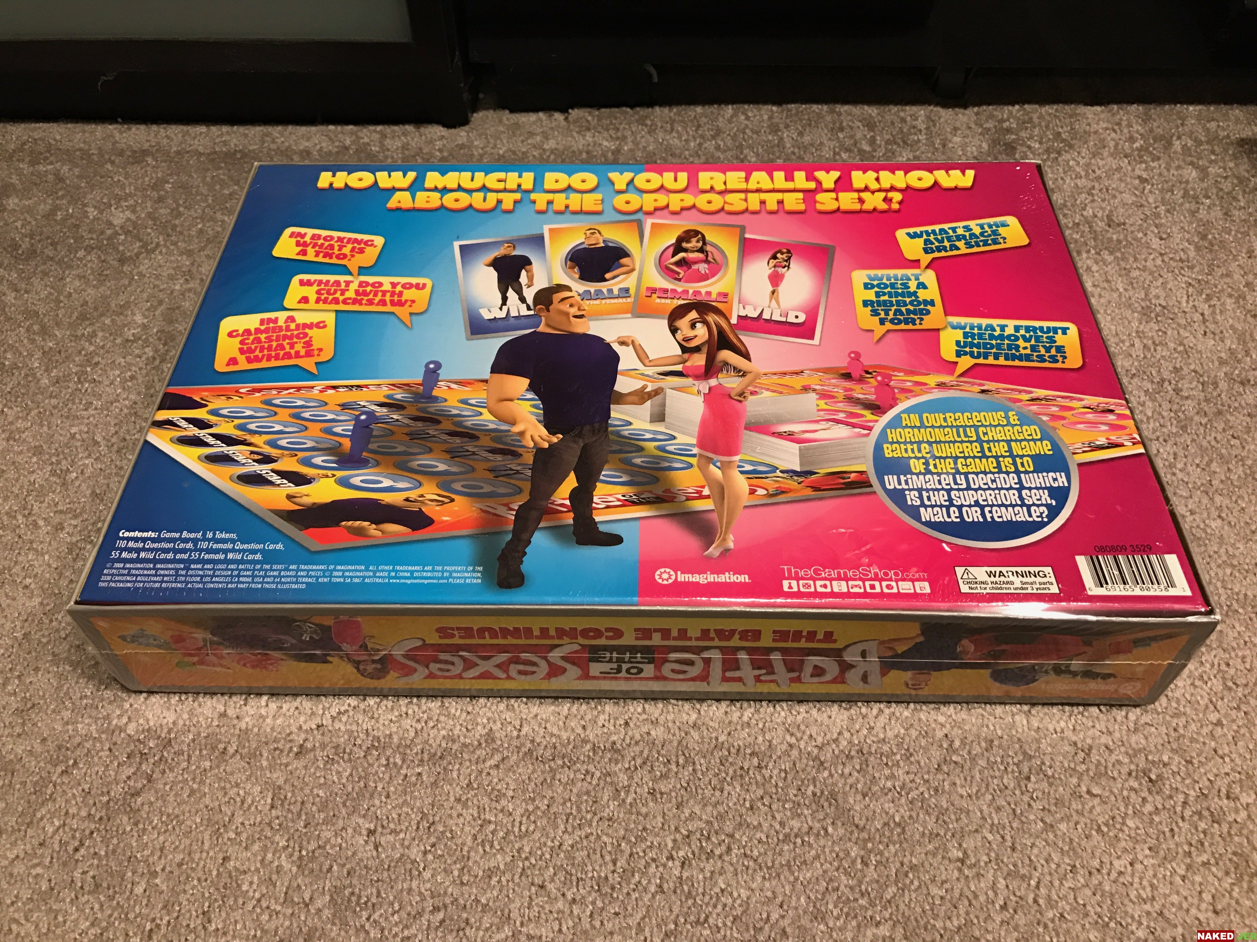 Battle of the Sexes board game, new in the box. Still sealed. $5