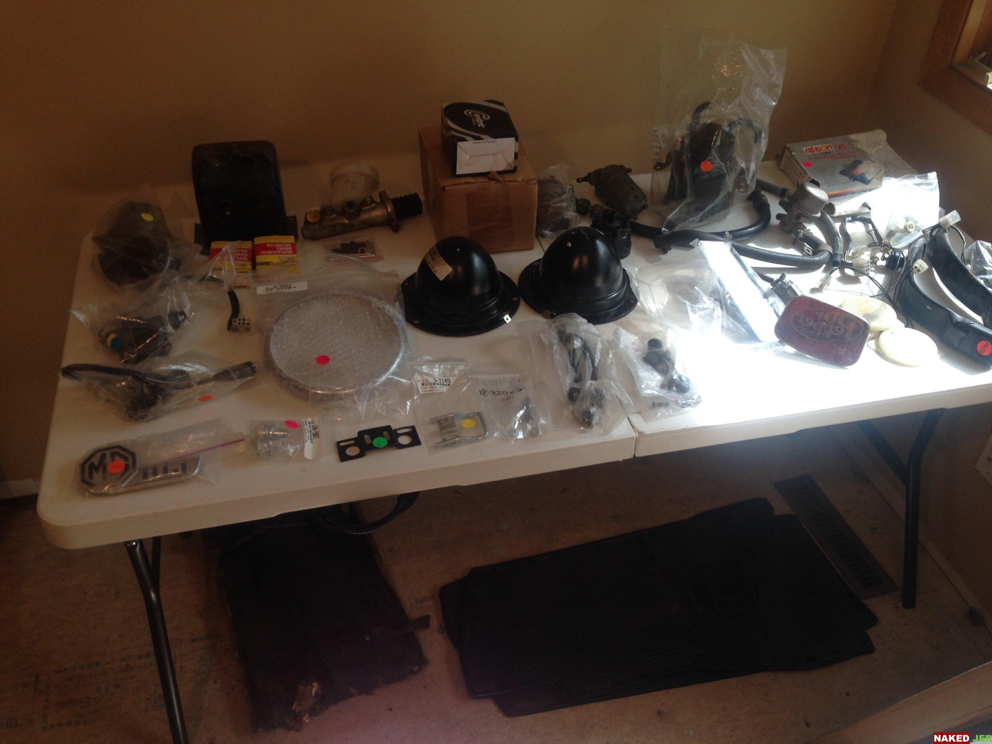 MGB Misc parts