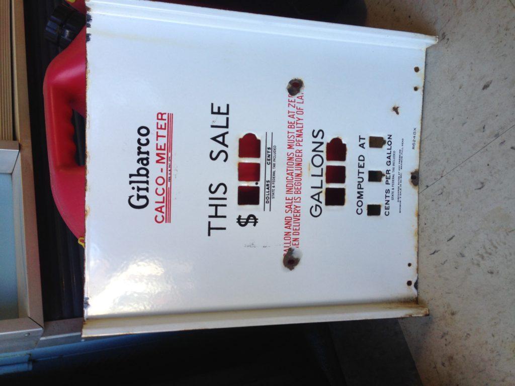 Gilbraco gas pump computer face $50