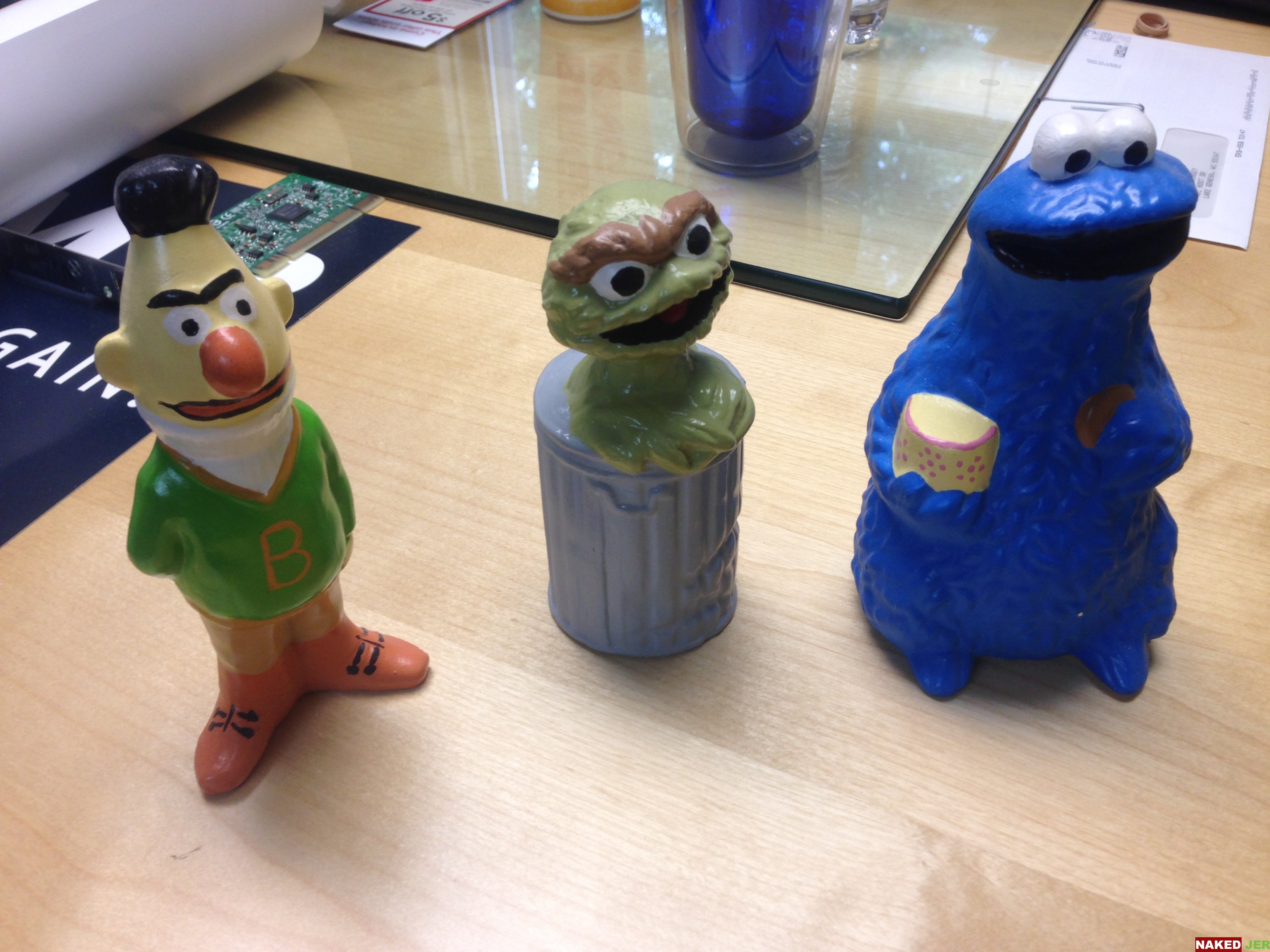 Burt Oscar the grouch and the cookie monster. $10 for all