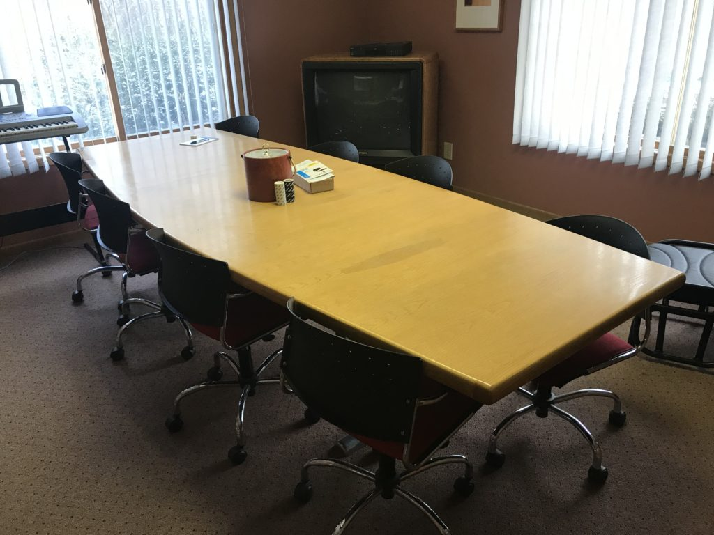 Large conference room table.