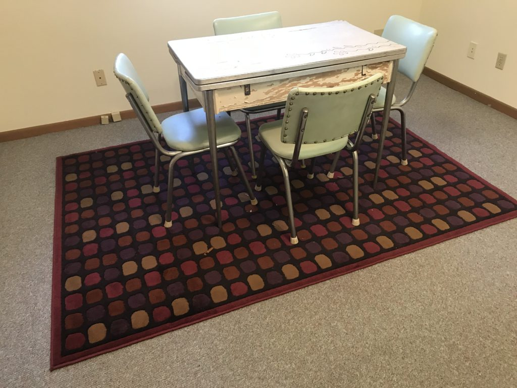 Antique kitchen table set and chairs