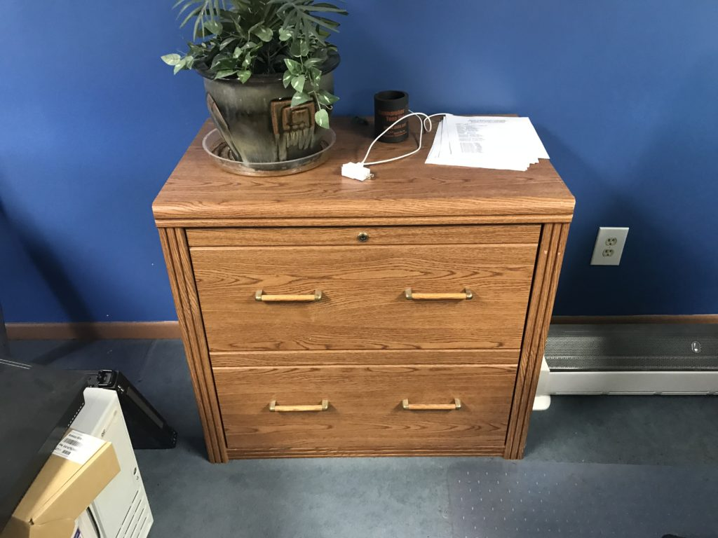 File Drawer unit faux oak