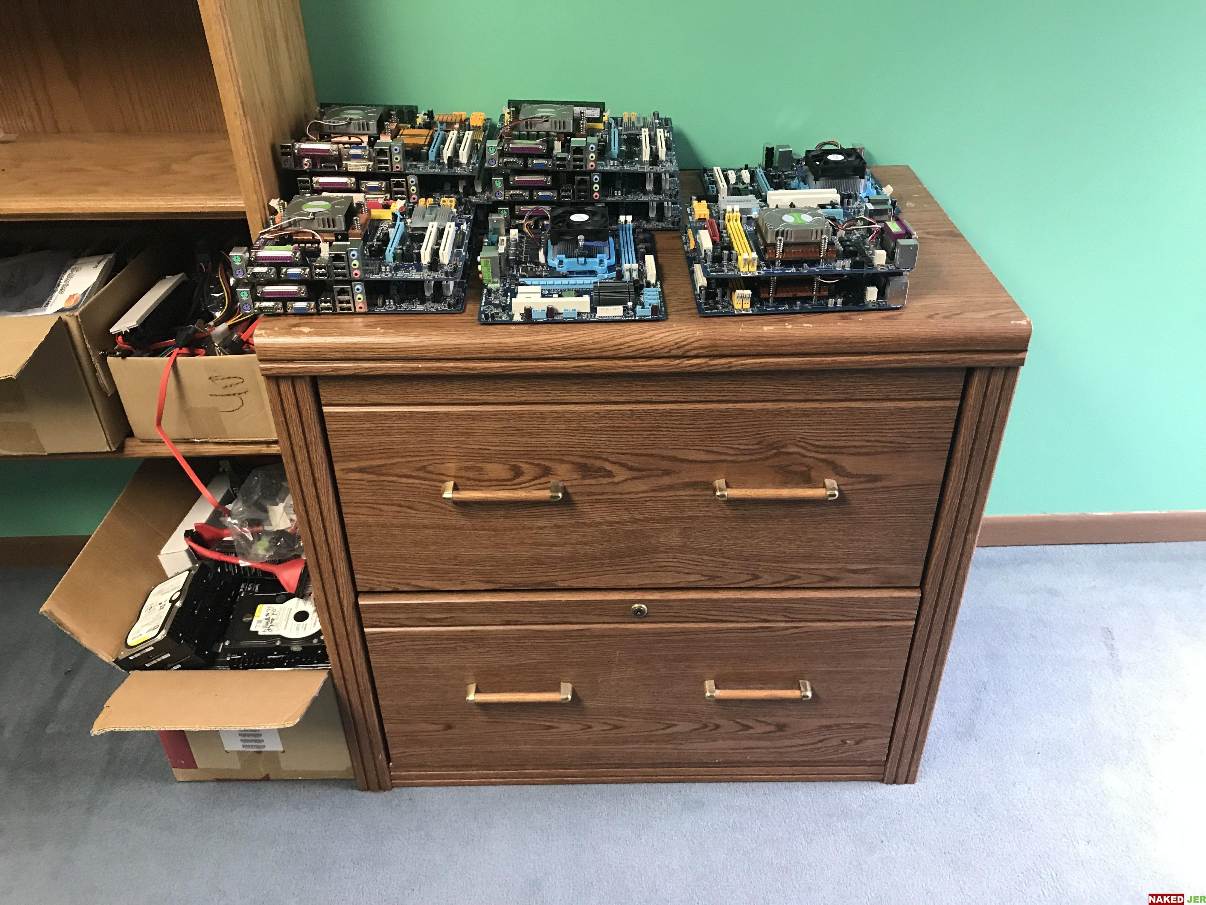 Faux Oak drawer unit