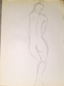 Female Nude Back