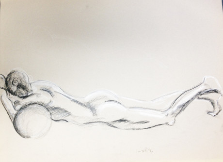 Nude Female Lying Down